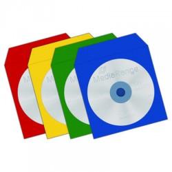 50 pochettes papier multicolores avec fenêtre transparente pour CD/DVD - Elypse