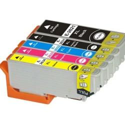 Lot 5 cart. compatibles Epson T26XL (Ours polaire) - Encre NXL/N/C/M/J