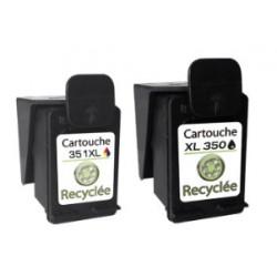 Lot 2 cartouches recyclées N°350XL + N°351XL