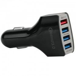 "Chargeur USB allume cigare 7A -""Quick Charge 3.0"" intelligent - 4 ports USB"
