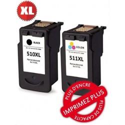 Pack 5 cartouches compatibles Canon - PGI-525Bk + CLI-526Bk+C+M+J - Noir/PhNoir/Cyan/Mag/Jaune