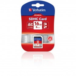 SD Secure Digital Card - Class 6 - VERBATIM - 16Go SDHC  43962