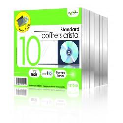 """Lot de 10 coffrets cristal pour 1 CD """"ELYPSE"""""""