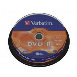 "10 DVD-R 4.7 Go ""VERBATIM"" - SUPERAZO- Cake box - 16x - 43523"