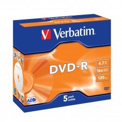 """5 DVD-R 4.7 Go - """"VERBATIM"""" - SUPER AZO - Coffret cristal - 16x - 43519"""