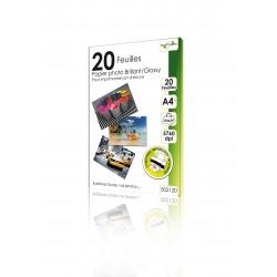"""20 Feuilles Papier photo brillant/Glossy 220g - A4 - Adhésif - """"ELYPSE"""""""