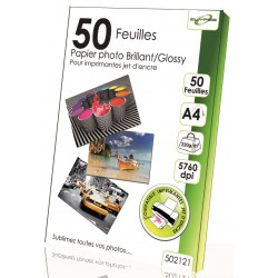 "50 Feuilles Papier photo brillant/Glossy 220g - A4 - ""ELYPSE"""