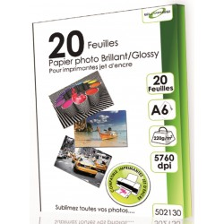 "20 Feuilles Papier Photo brillant/Glossy 220g - A6 - ""ELYPSE"""
