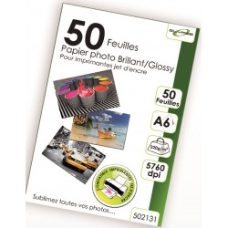 "50 Feuilles Papier Photo brillant/Glossy 220g - A6 - ""ELYPSE"""