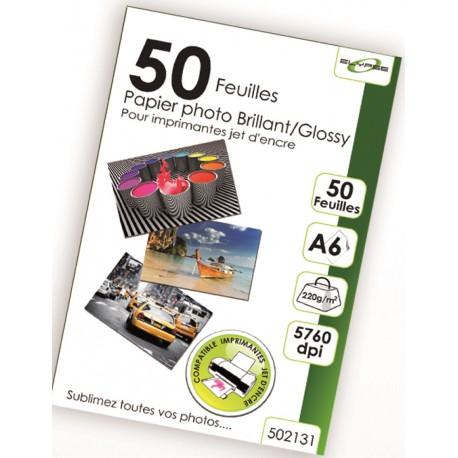 """50 Feuilles Papier Photo brillant/Glossy 220g - A6 - """"ELYPSE"""""""