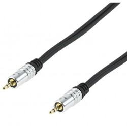 Cordon audio stéréo - PREMIUM - Jack 3,5mm Mâle / Jack 3,5mm Mâle - 1,50m