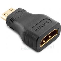 Adaptateur HDMI Femelle / Mini HDMI Mâle - contacts or