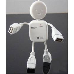 """Hub 4 ports USB 2.0 - """"Poupée"""" - Auto-alimenté"""