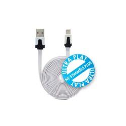 Cordon USB chargement/synchronisation /iPhone5/6 - iPad4&Mini - Led - 1.00m
